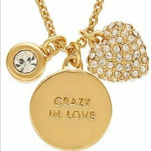 """Kate Spade """"Crazy in Love"""" Charm Necklace"""